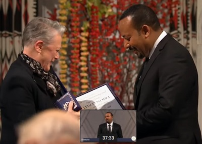 2019 Nobel Peace Prize Ceremony - PM Abiy Ahmed