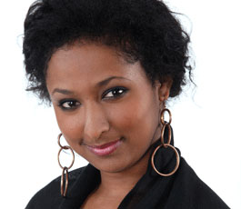 Hanni representing Ethiopia in Big Brother Africa