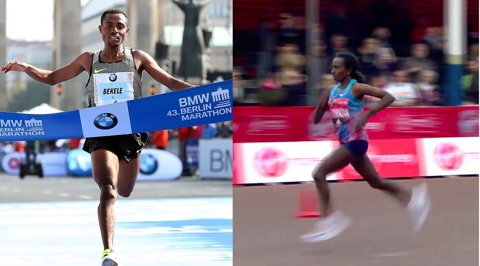 Kenenisa-Tirunesh-Finish-second